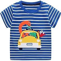 FILOWA Bebé Niño Camiseta Manga Corta Algodon Camisetas Elegante Verano Casual Dibujos Ropa Chico Sudadera Deporte…