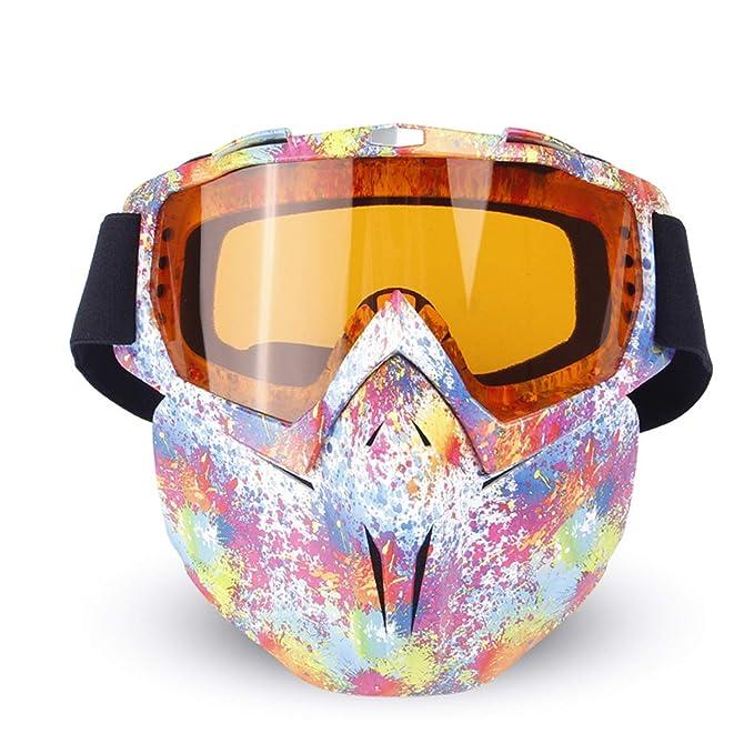 3e804a79c0 AnazoZ Gafas Protectoras Deporte Gafas de Moto Gafas Protectoras Viento  Gafas de Protección Militar Gafas Protección Polvo Gafas Arco Iris Blanco:  ...