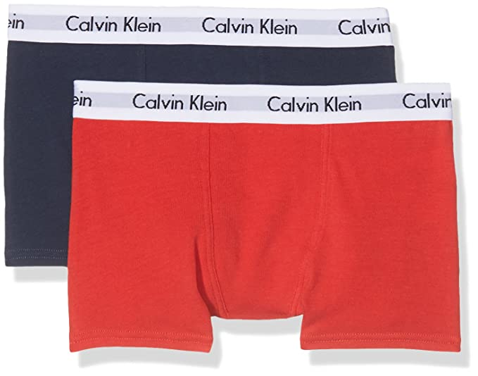 82ae756022a99c Calvin Klein Boys 2-Pack Classic Logo Boxer Trunks, Red/Navy Age 12 ...