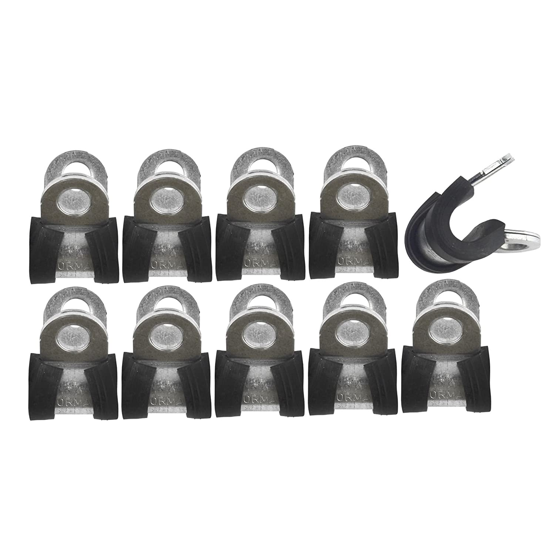 Flexible Bremse aus Kautschuk Clips Clips P bordé e von 1/4' (6.4mm) Partie 10 FL36 AB Tools