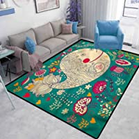 Whale Modern Design Area Rugs Happy Sea Giant Blooms Bedroom Study Rugs Modern Carpets...