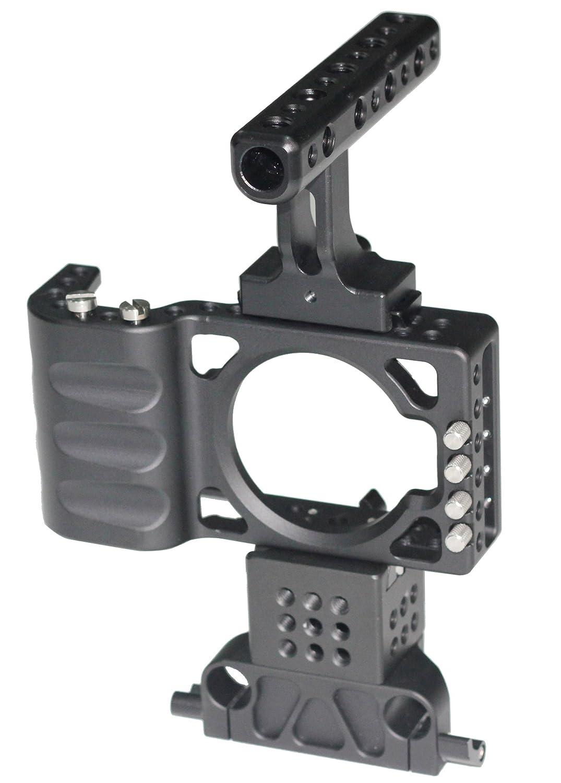 新しいHONTOOトップハンドルカメラケージfor BMPCCケージリグArmor withケーブルクランプブラックマジックポケット映画カメラキット   B00JVOHDK6