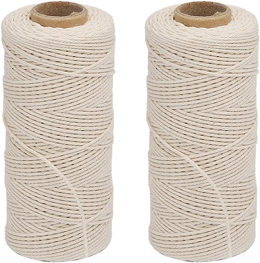 Vivifying cordón de algodón, 2 x 328 pies apto para alimentos ...