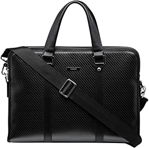 """SAFEDOME Genuine Carbon Fiber Laptop Bag, Travel Accessories for Men, Cool Stuff for Men or Stylish Gifts for Men, Waterproof and Corrosion Resistant, Black - 15.4"""""""
