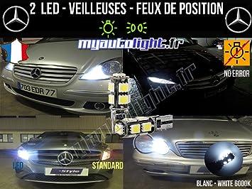 Bombillas LED para luces de posición, blanco xenón, W5W: Amazon.es: Coche y moto