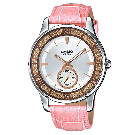 Casio Leatherwatch Esfera E135l Wcristales Ltp 4av Rosa GqSUzMVp