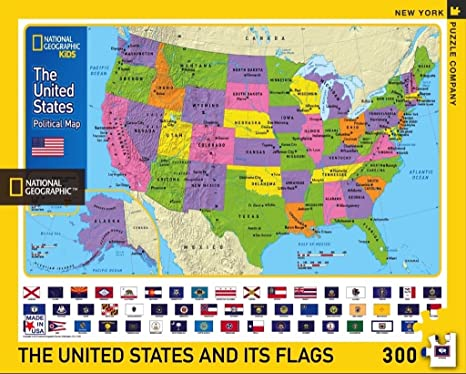 New York Puzzle Company - National Geographic The USA Kids Map - 300 Piece  Jigsaw Puzzle