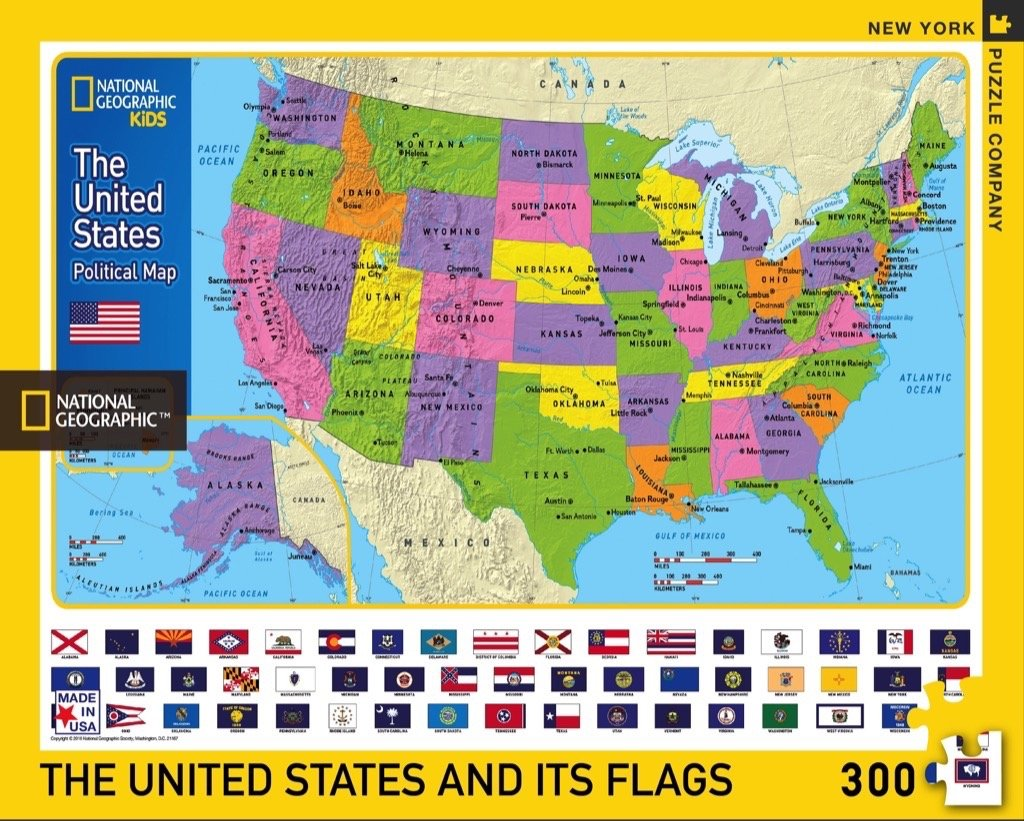 Georgia Map For Kids.Amazon Com New York Puzzle Company National Geographic The Usa