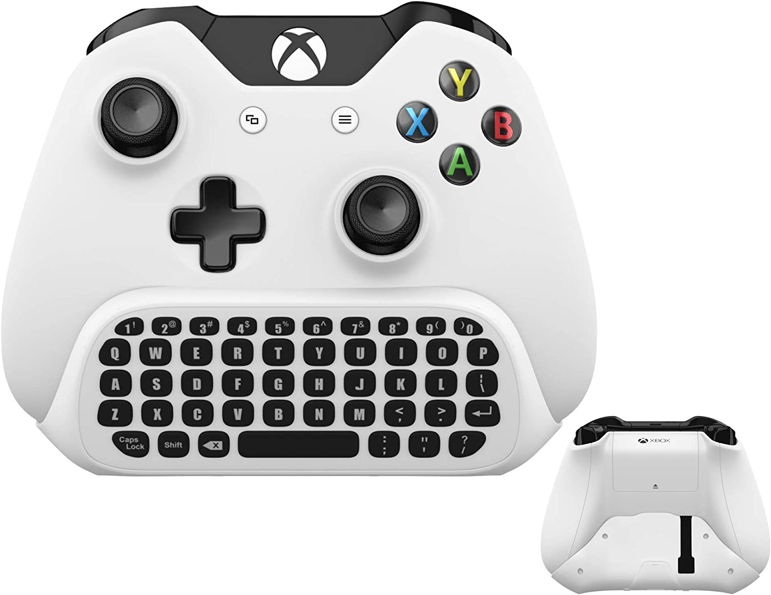 Wireless Keyboard ChatPad for Microsoft Xbox One S Keyboard White with USB Receiver with Audio/Headset Jack for Xbox One Elite & Slim Controller