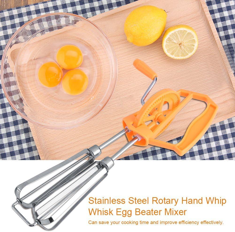 Utensilio de cocina para mezclar Batidor de huevo con espuma de leche Batidor de huevo de acero inoxidable blanco Huevo f/ácil de agarrar batidora de mano Batidora Batidora de huevo
