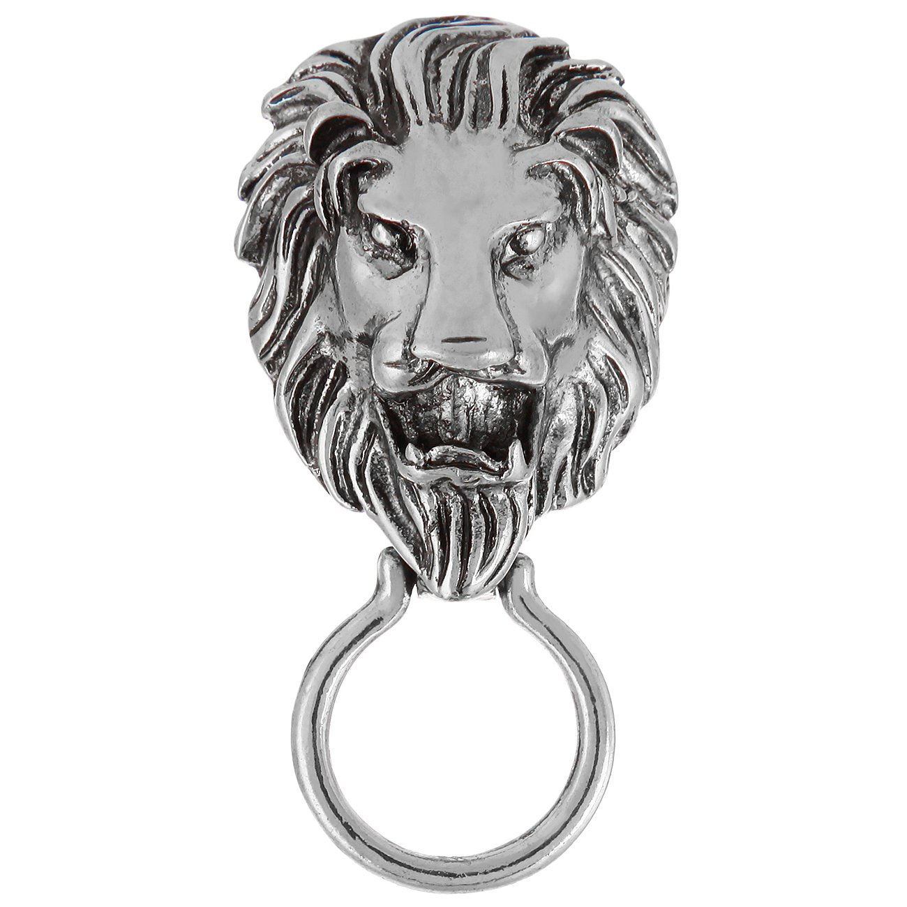 CHUANGYUN Vintage Lion Biker Animal Brooch Magnetic Eyeglass Holder (Sliver)