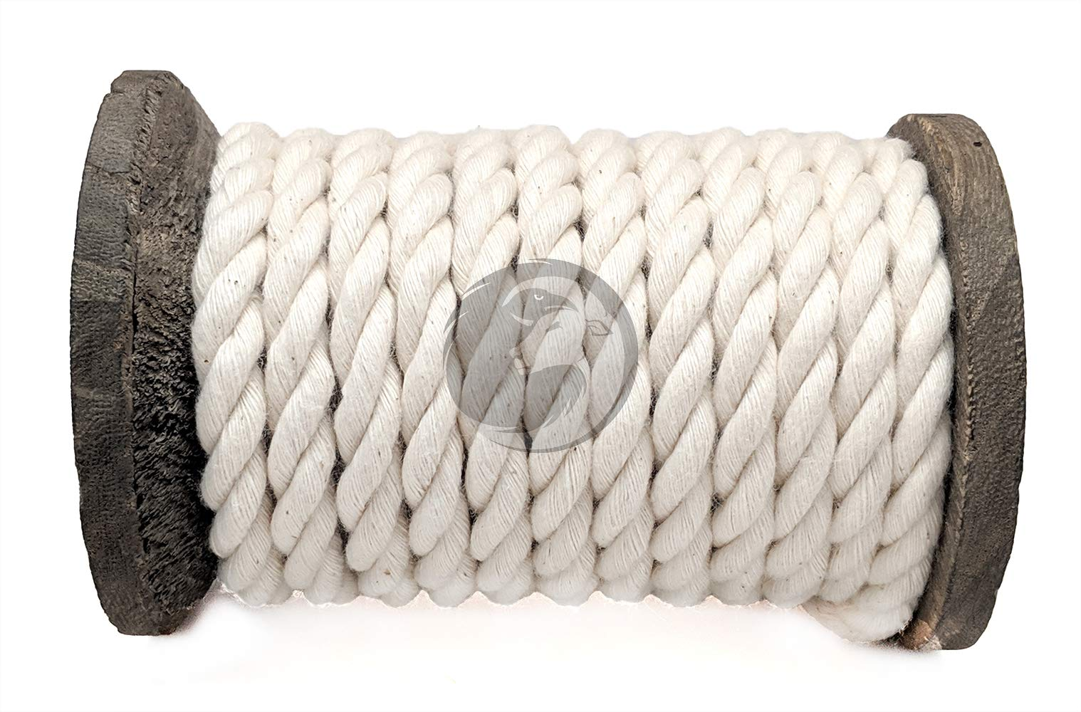 Ravenox 100% Cotton Twisted Rope | (White)(3/8 in x 1000 ft) |USA Made Natural Cord | Baker & Butchers Twine, Macramé, Knotting, Crafts, Pet Toys by Ravenox (Image #4)