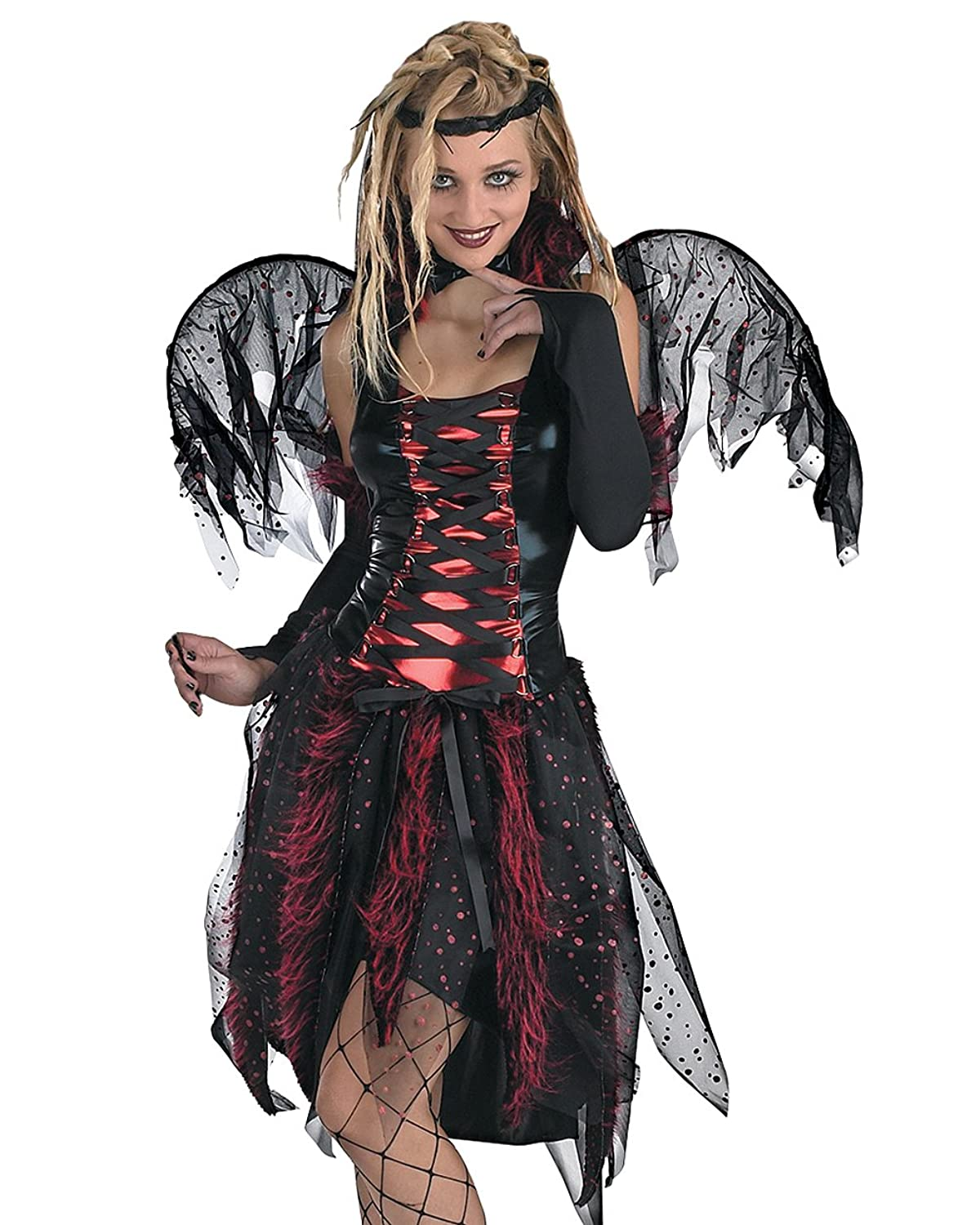 Vamp Fairy Adult Costume Vampire Wings Goth Gothic Theatre Costumes