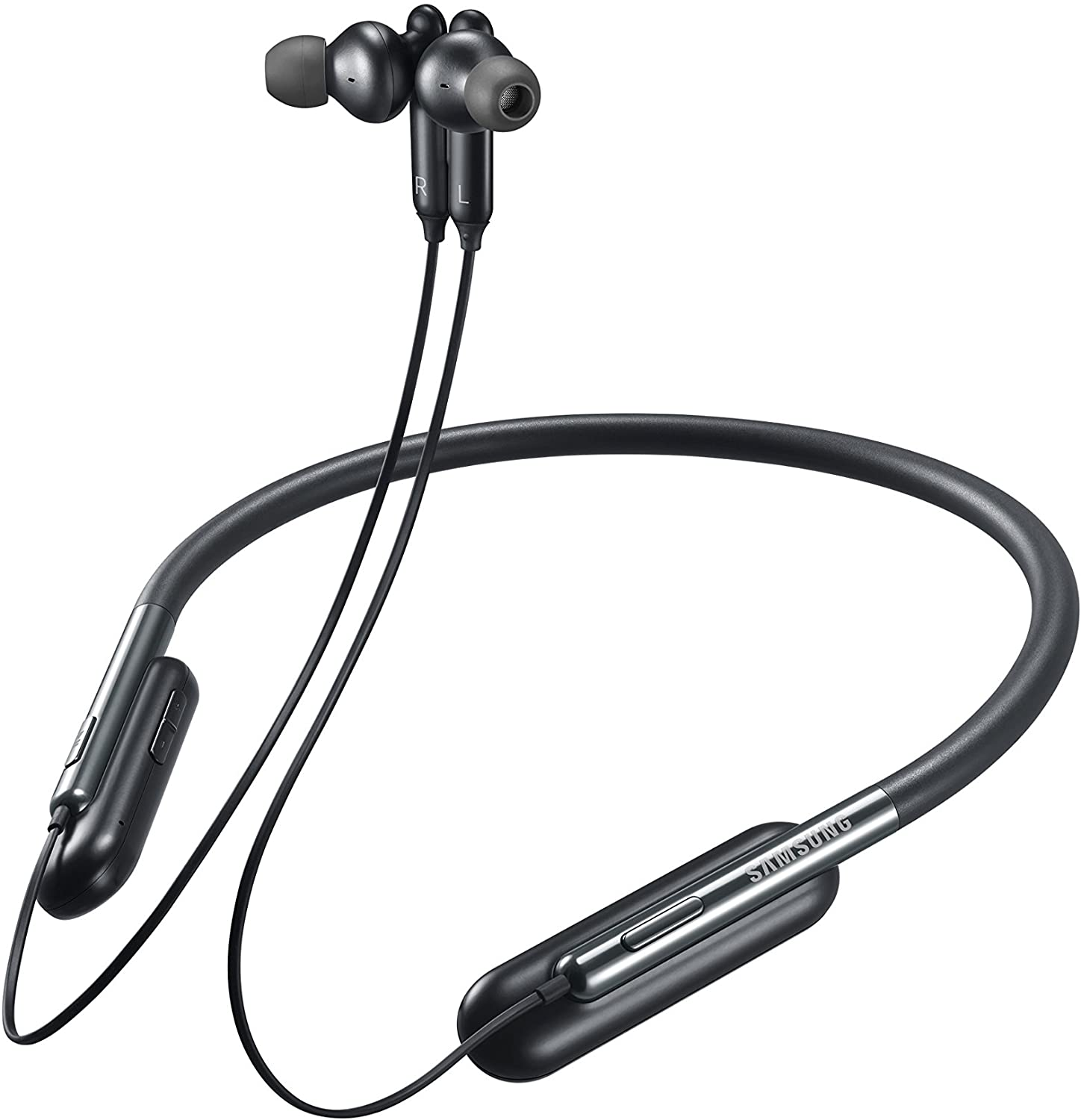 Amazon Com Samsung U Flex Bluetooth Wireless In Ear Flexible Headphones With Microphone Black