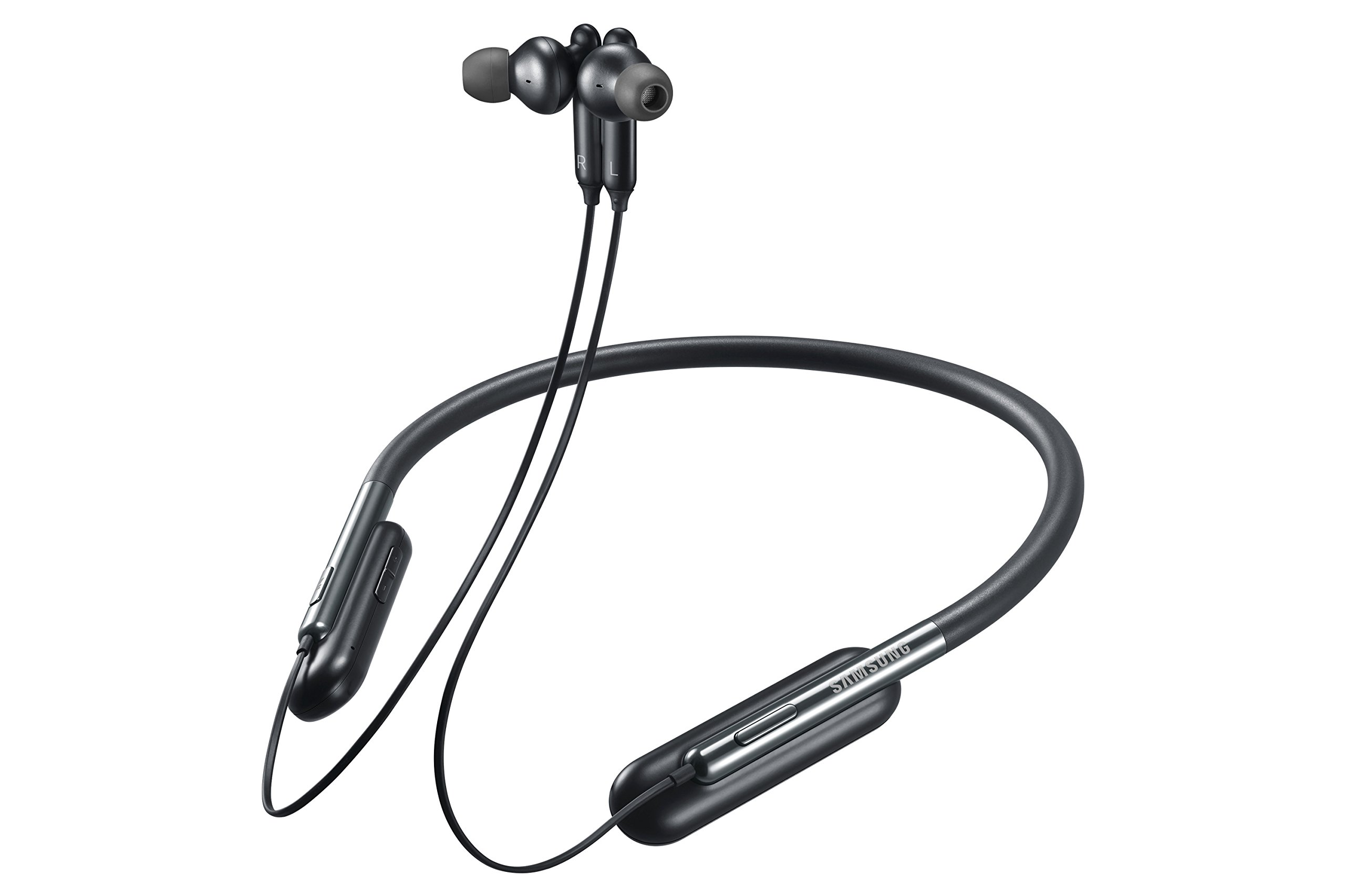 Samsung U Flex Bluetooth Wireless In-ear Flexible Headphones with Microphone (US Version with Warranty), Black