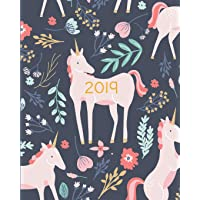 2019 Planner Weekly and Monthly: Calendar Schedule + Organizer - Inspirational Quotes and Fancy Unicorn Cover - January 2019 Through December 2019