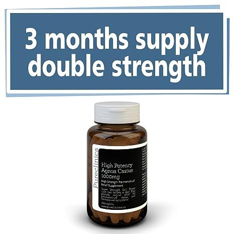 Agnus Castus 1000mg x 180 tabletas (3 meses de suministro). 250% más fuerte que las tabletas regulares Agnus Castus. SKU: AC3: Amazon.es: Salud y cuidado ...