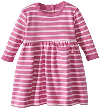 Jojo Maman Bebe Pink Stripe Jersey Dress 6-12 Months Girls' Clothing (0-24 Months)