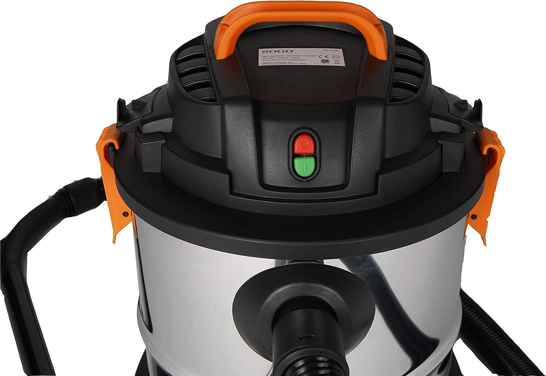 SOGO SS-16135 Aspirador húmedo y seco con accesorios y filtro HEPA ...