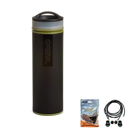 Grayl Botella de Agua Ultraligera compacta purificadora/Filtro 473 ...