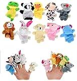 BOMIO Baby Fingerpuppen Tiere | lustige Handspielpuppen| niedliche Fingertiere | förderndes Baby-Spielzeug | witziges Lernspielzeug | 10 süße Handpuppen