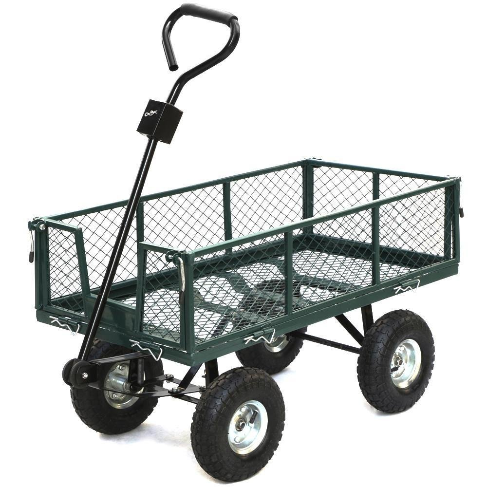 Amazon.com : Yaheetech 400 Lb Utility Steel Crate Wagon Garden Cart 38 X 20  X 22.5 Inches : Garden U0026 Outdoor