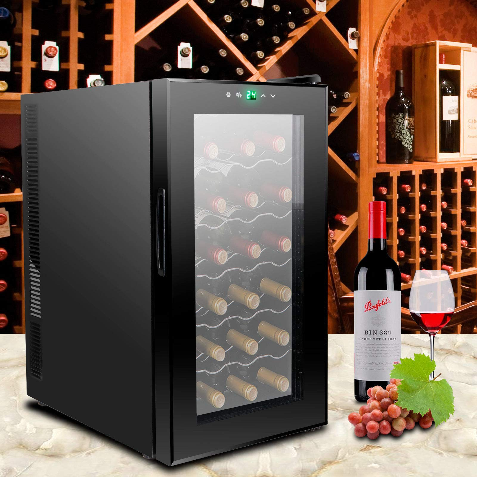 AK Energy 18 Bottles Wine Cooler Refrigerator Air-tight Seal Quiet 50-64 F Temperature Control by AK Energy (Image #3)