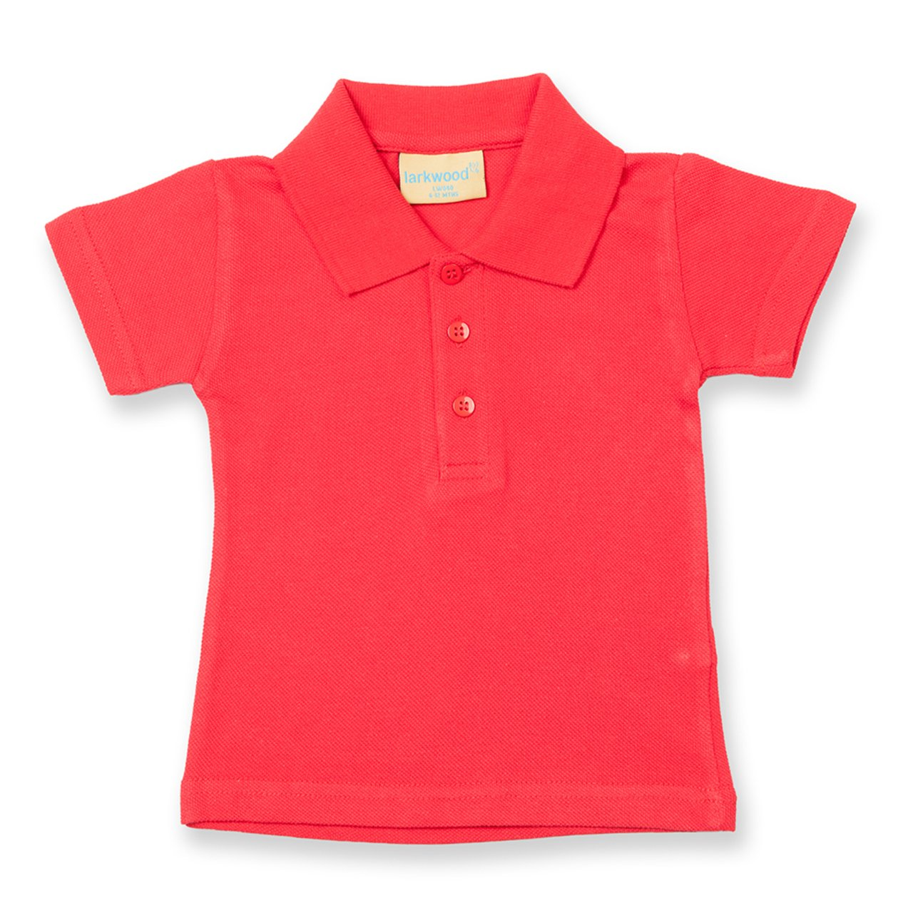 Larkwood New Baby/Toddler Hemmed Sleeves Polo Three Button Placket Shirt