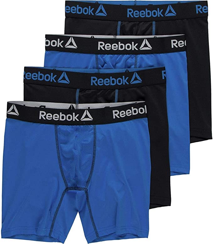 Zoo cameriera Pera  Reebok Performance Boxer Brief - 4-Pack - Men's: Amazon.co.uk: Clothing