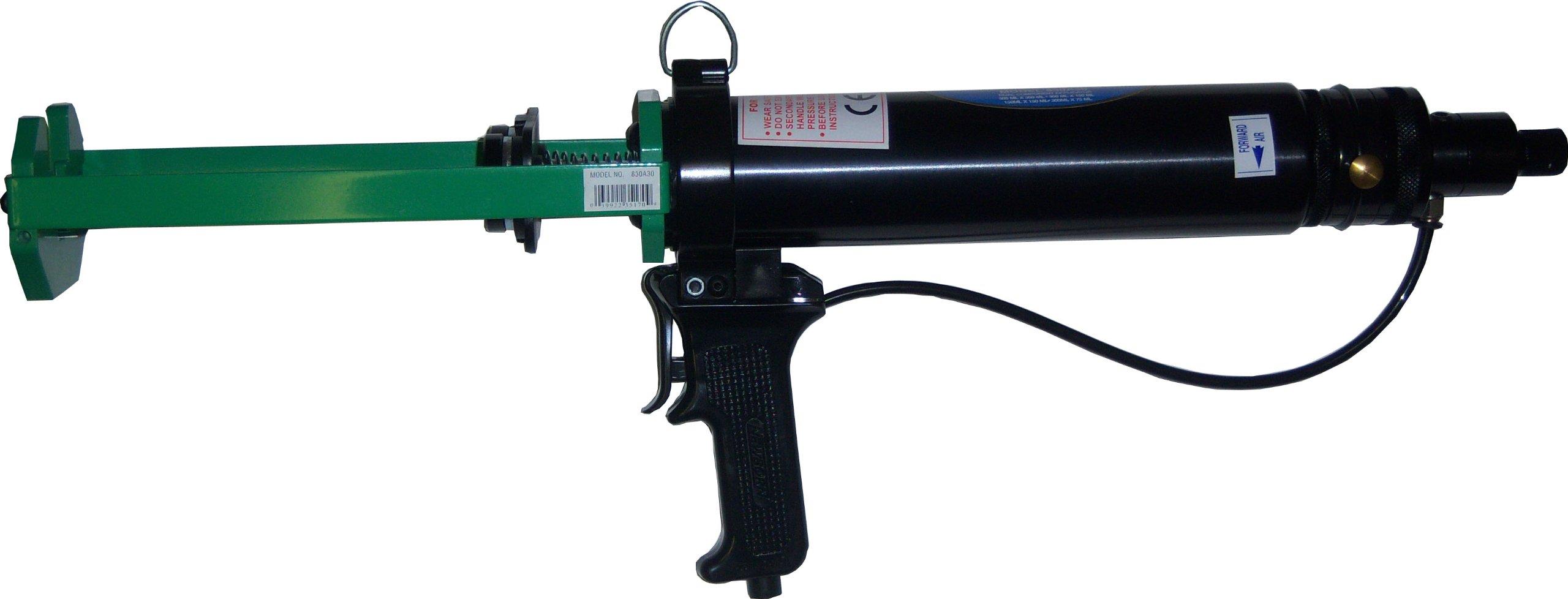 Newborn 830A30 Dual Component Pneumatic Applicator, 2-1/2'' Cylinder, for 300 mL x 300 mL Cartridges, 100 psi