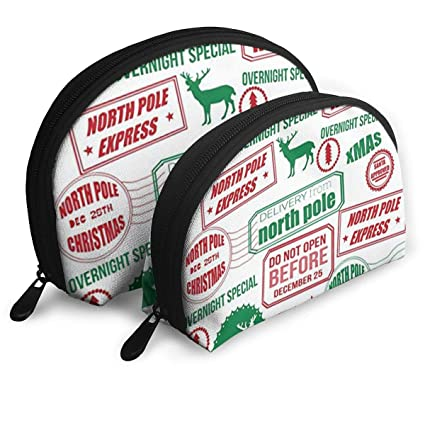 XINLLPO Reindeer Wrapping Paper Portable Cosmetic Bag,Toiletry Bag,Mini Travel Cosmetic Bag,