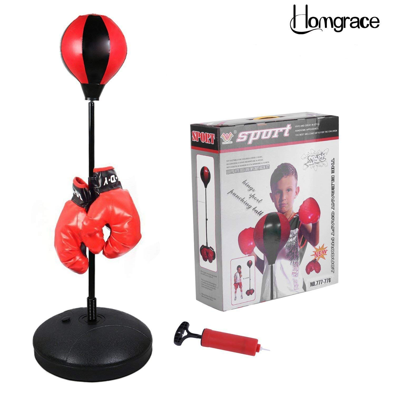 Punching ball enfant mini sur pied avec gant de boxe enfant jeu sac de frappe
