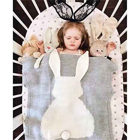 8cac1219a YEVEM Cute Cozy Baby Kids Knitted Blanket Wrap Soft Blankets Newborn ...