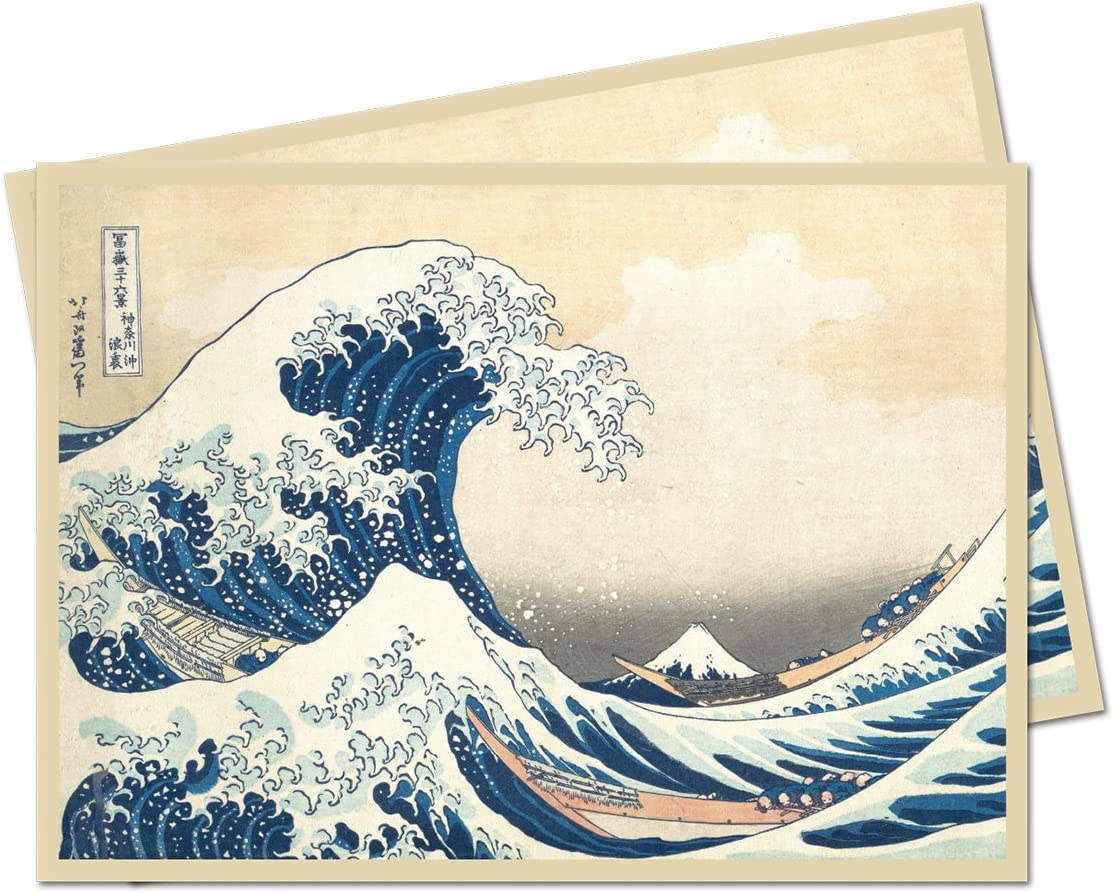 Magic 65 Count Pack Ultra Pro Fine Art Series The Great Wave Off Kanagawa Standard Deck Protector Sleeves
