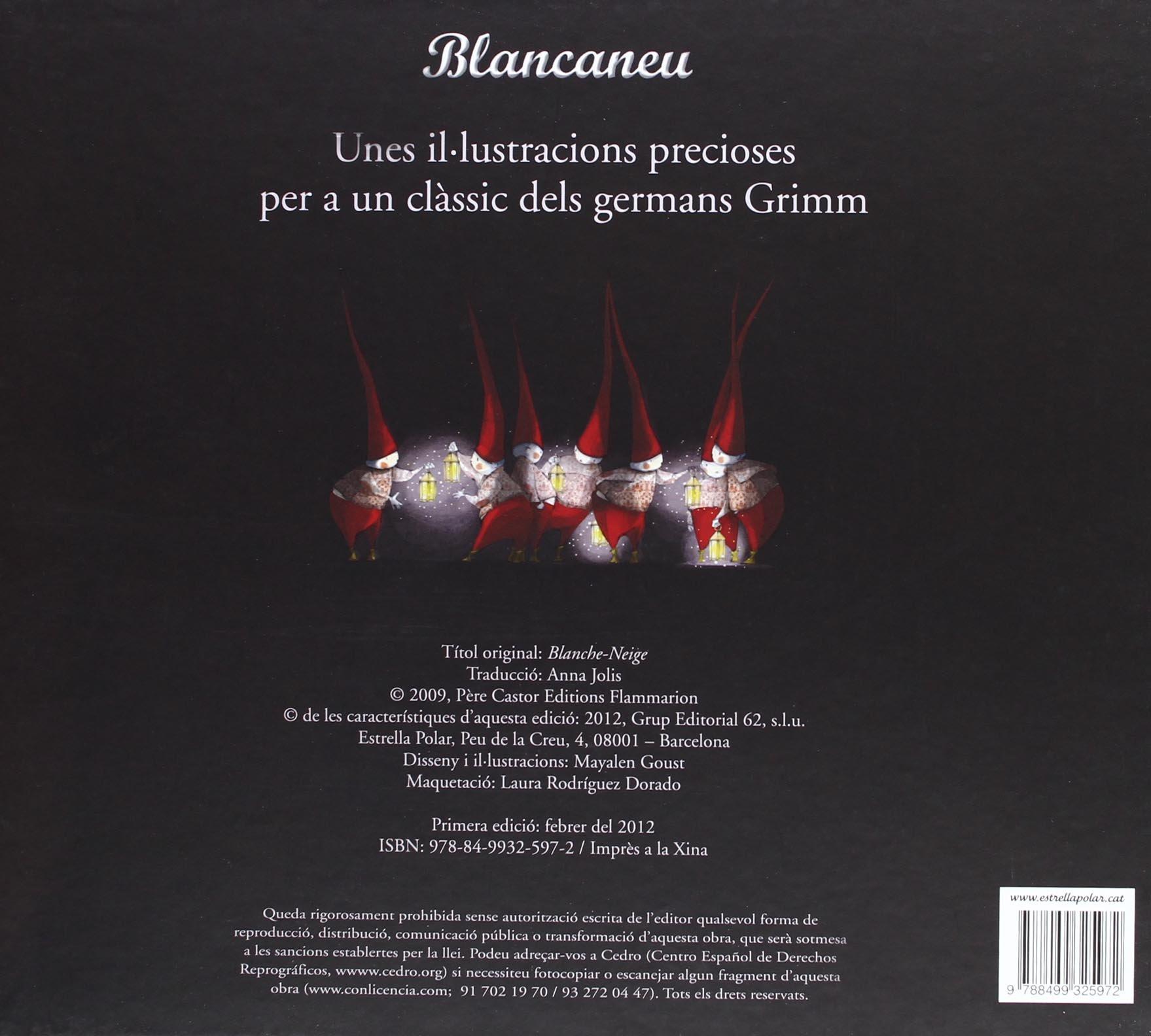 Blancaneu - il·lustrat: Unes il.lustracions precioses per a un clàssic dels germans Grimm La Lluna de Paper: Amazon.es: Mayalen Goust, Anna Jolis Olivé: ...