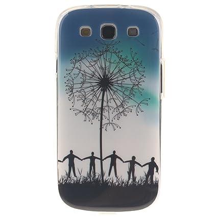 Guran® Silicona Funda Carcasa para Samsung Galaxy S3 i9300 / S3 Neo Smartphone Case Bumper Shock TPU Cover-Cielo azul