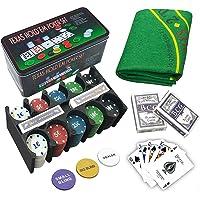 LEYENDAS CROWN Set de póker Caja de Metal