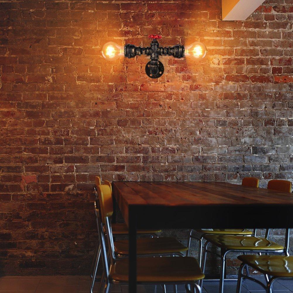 Nochx Vintage Wandleuchte Wandlampe Industrie Wand Lampen Water Pipe