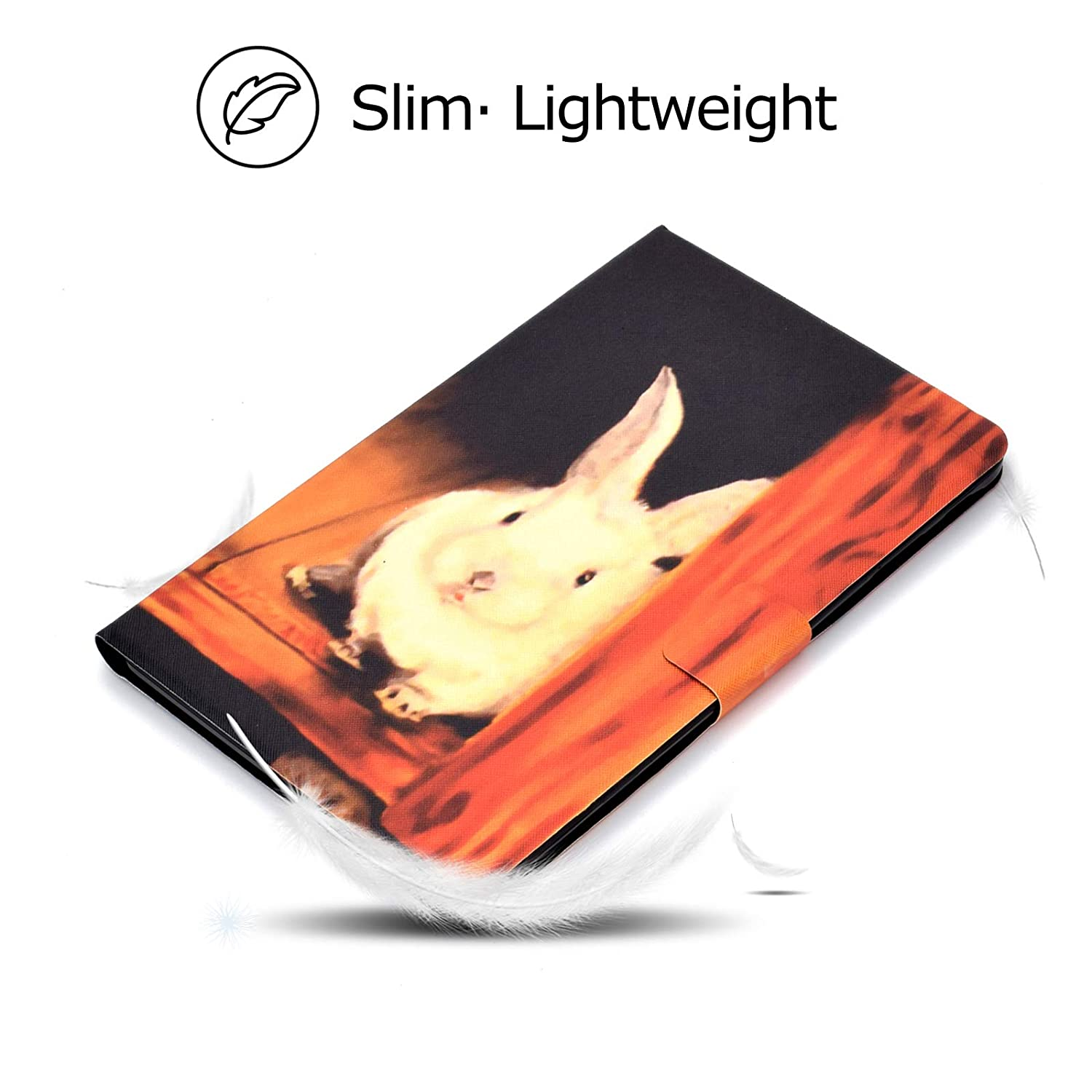 Coopts Ultra Slim Folding Stand Full Protective Cover with Magnetic Closure for Samsung Galaxy Tab E 9.6-inch Tablet Hello Panda Galaxy Tab E 9.6 Tablet Case SM-T560// T561// T565