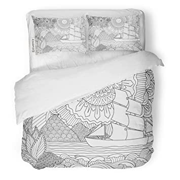 Amazon.com: Semtomn Decor Duvet Cover Set Full/Queen Size ...
