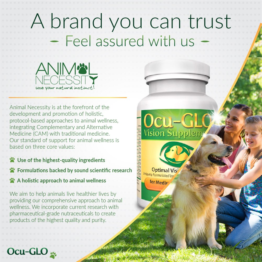 Ocu-GLO Vision Supplement for Small Dogs, Animal Necessity - Lutein, Omega-3 Fatty Acids, Grapeseed Extract Support Optimal Eye Health & Vision in Dogs - Antioxidants for Canine Ocular Health - 45ct by Ocu-GLO (Image #7)
