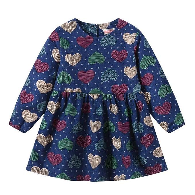 Beladla Vestido NiñO Bautizo Bebé NiñA Flor ImpresióN Sin Mangas Mezclilla Vestidos Vestido para BebéS Ropa Impresa De Camisa: Amazon.es: Ropa y accesorios
