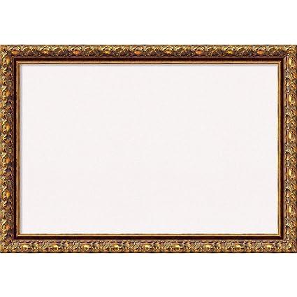 Amazon.com: Amanti Art Framed White Cork Board Antique Bronze: Outer ...