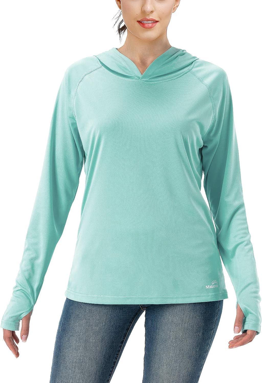 Willit Womens UPF 50 Sun Protection Hoodie SPF Shirt Long Sleeve Hiking Fishing Outdoor Shirt Lightweight Hoodie