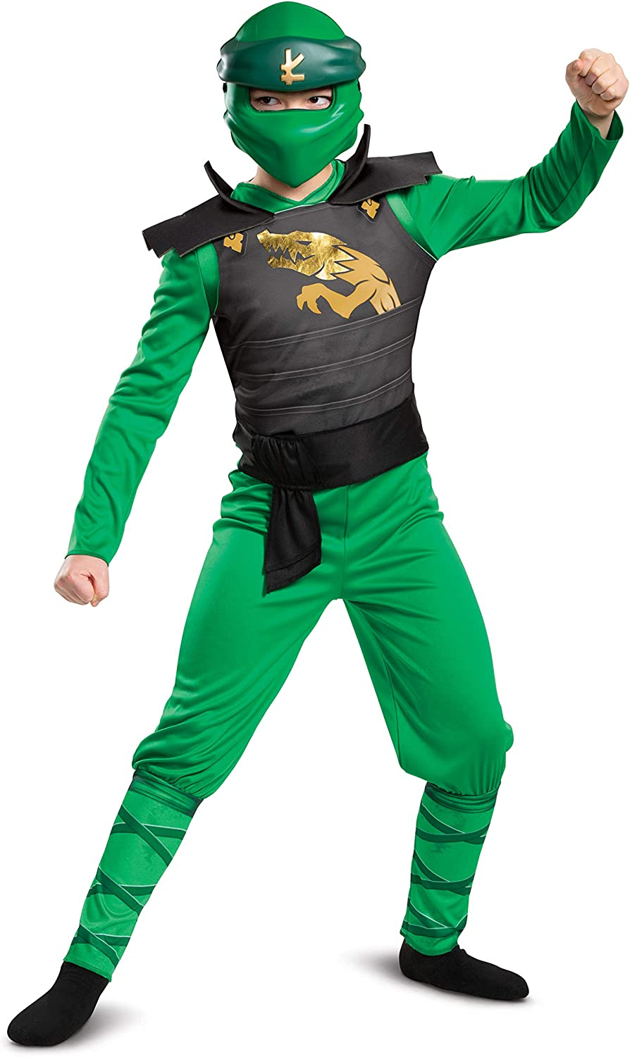 Classic Lego Ninjago Legacy Themed Childrens Charcter Jumpsuit Child Size Small Lloyd Costume for Kids 4-6