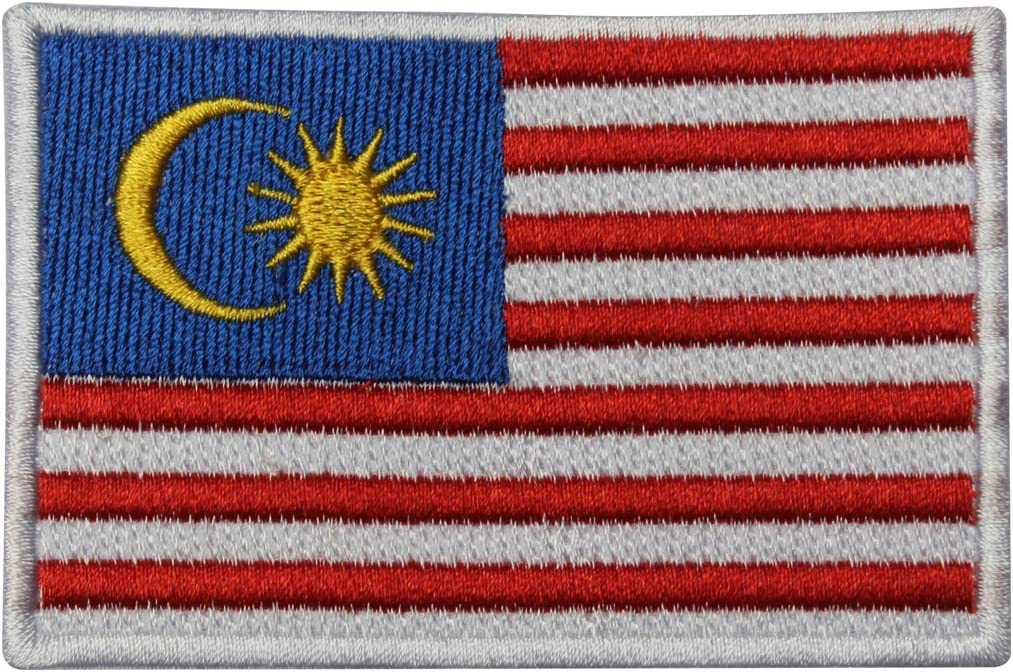 etc. /Écusson brod/é drapeau national de la Malaisie thermocollant /à coudre pour v/êtements
