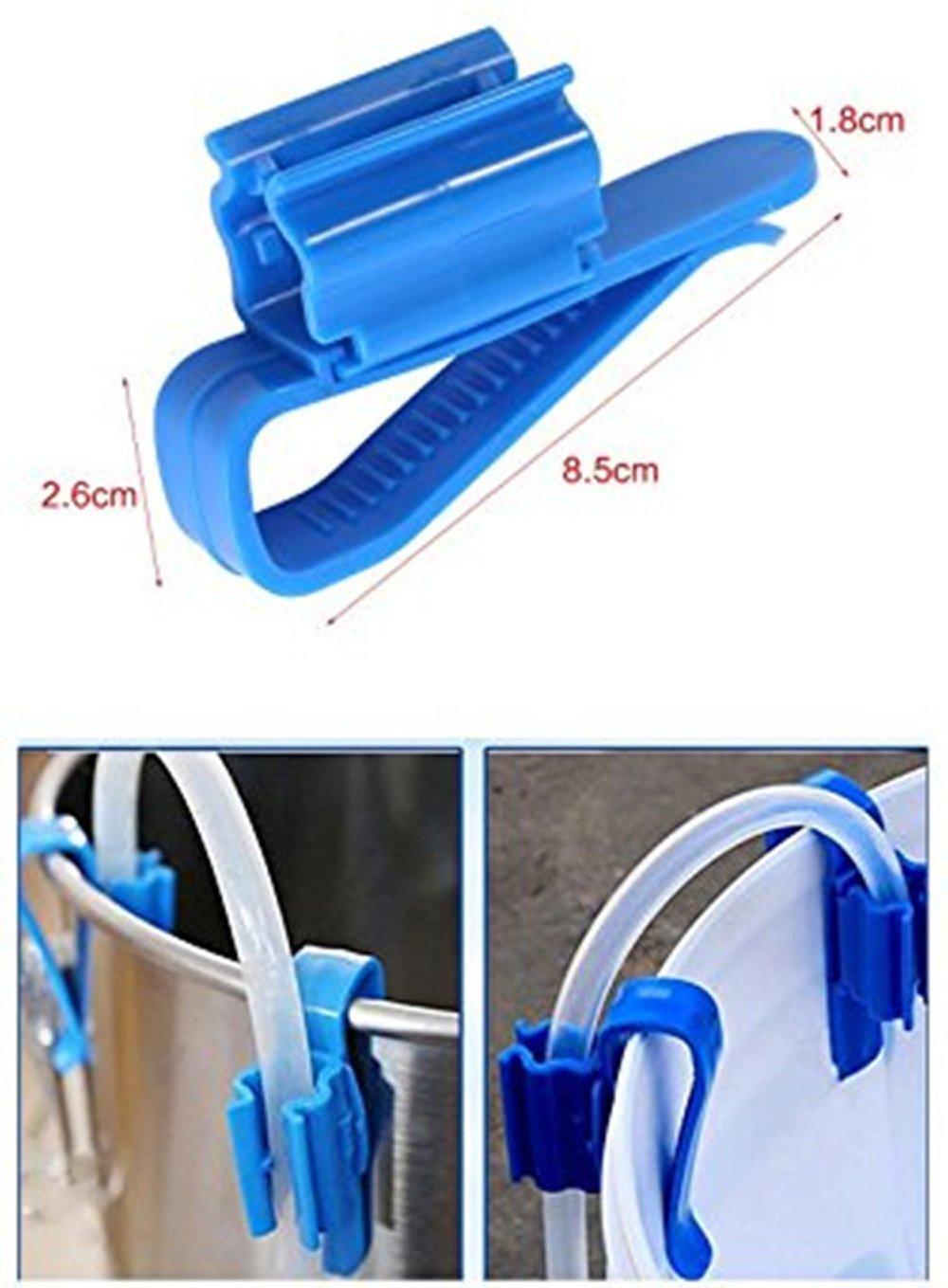Malloom 2X Pl/ástico Acuario Tanque Tuber/ía de Agua Abrazadera Manguera Tubo Varilla Clip de fijaci/ón Montaje Holde Acuario Filtro Cubo Cubo Tubo