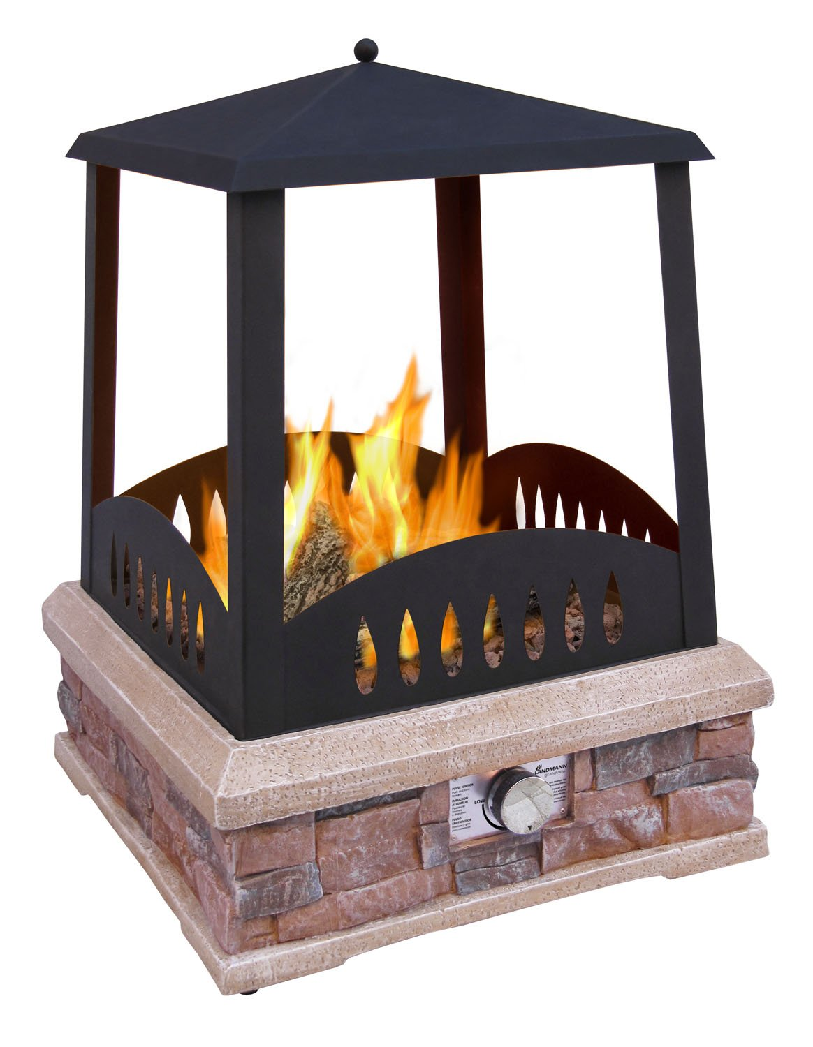 Amazon.com : Landmann 22812 Grandview Outdoor Gas Fireplace : Propane Fire Pit : Garden & Outdoor