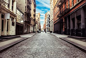 Amazon Com Yeele 7x5ft City Street Backdrop New York City Old Soho Downtown Paving Stone Street Photography Background Artistic Portrait Work Event City Landscape Youtube Channel Photo Booth Digital Wallpaper Camera
