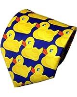 Rubber Duck Necktie Barney Ducky Tie